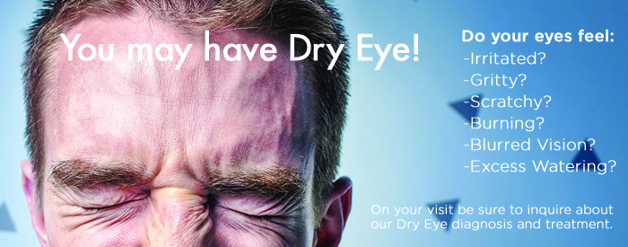 You may have dry eyes, male squinting